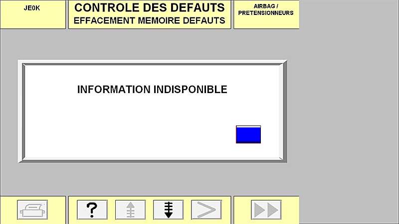 Effacement défaut airbag impossible - Espace 3 2,2 dci 130cv 2001 Screenshot_7